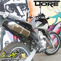 Escape Ponteira Alumínio Dore + Curva Lander 250 Bronze