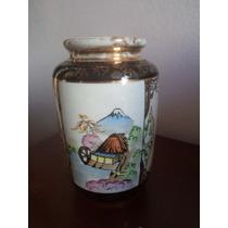Vaso De Porcelana Com Desenho Oriental - Antigo - Wakamizu