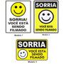 Placa Pvc Sorria Você Esta Sendo Filmado 150 X 200 X 1,5 Mm