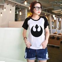 T-shirt Baby Look Raglan - Aliança Rebelde - Star Wars