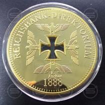 Moeda Ouro Comemorativa - Reichsbank Aachen 1888
