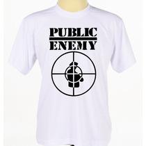 Camiseta Camisa Personalizada Grupo De Hip Hop Public Enemy
