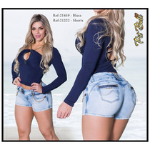 Shorts Pit Bull Pitbull Jeans Levanta Bumbum - Nova Coleção!
