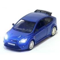 Miniatura Ford Focus Rs 2009 Azul Com Luz E Som
