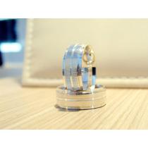 Par De Alianças Em Prata 7mm Hg Jóias