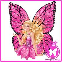 Festa Barbie Butterfly Topo De Bolo - 20 Cm