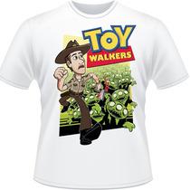 Camiseta Toy Walkers The Walking Dead Camisa Story Branca