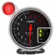 Velocímetro Conta Giro Automotivo Tuning Cromado Com Fundo C