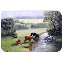 Vacas Bebendo No Creek Banco Cozinha Ou Banho Mat 24x36 Bdba