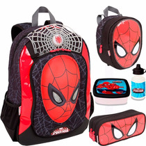 Kit Mochila Costas Homem Aranha - Spider Man 16z Sestini