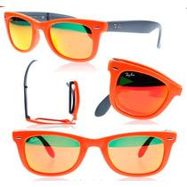 Frete Gratis - Oculos Rayban 4105 Wayfarer Dobra Espelhado