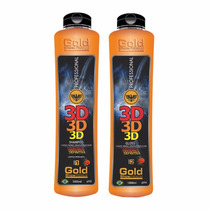 Escova Definitiva 3d Gold Show Premium 2x1000ml *produto Top