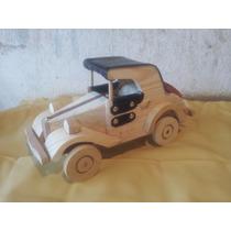 Carro De Madeira Miniatura Chevrollet 1927-produto Artesanal