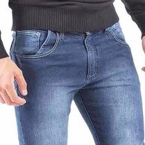 Calça Zip Jeans Com Lycra Stretch Masculina Slinfit
