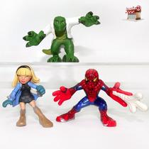 Espetacular Homem-aranha Gwen Stacy Lizard- Super Hero Squad