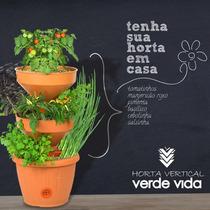Mini Horta Vertical Verde Vida Com Irrigação Interna