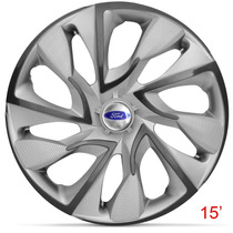 Calota Jogo Aro 15 Silver Ds4 Ford Ka Fiesta Focus Ecosport