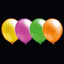 Balão Bexiga De Neon Nº10 - Com 30 Unidades