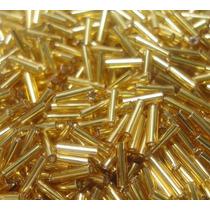 Miçanga Canutilho Dourado De Vidro Pacote 500g
