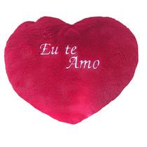 Coração De Pelúcia Eu Te Amo 28cm Carinho Namorados