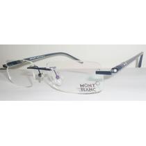 Armação Oculos Grau Modelo Mb89 Silver Black Sem Aro Linda