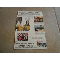 Propaganda Antiga Maquinas De Costura Singer 1951 Elgin
