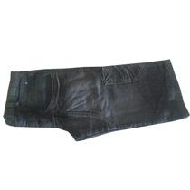 Bermuda Jeans Masculina Preto Estonado Com Bolso Lateral