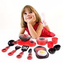 Cozinha Infantil Panelas, Fogão, Talheres, Tábua E Mais