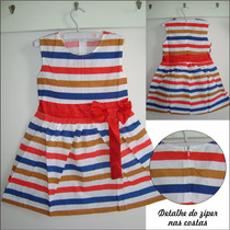 Vestido Infantil - Listrado Color