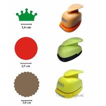 Furadores Círculo Escalope 3,8cm + Liso 2,5cm + Coroa 1,6cm
