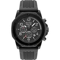 Relógio Bulova Marine Star 98b223 Masculino Original Black