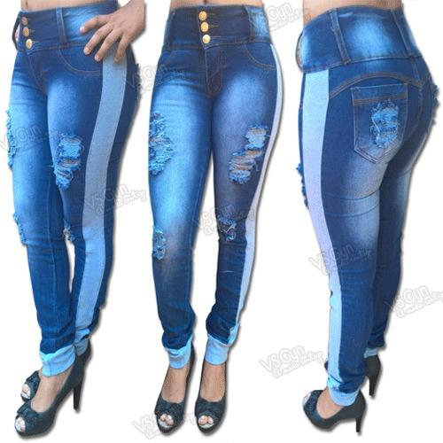 02b52593d8 Comprar Calça Jeans Feminina Cós Alto Destroyed E Punho De Moletom - Apenas  R  89