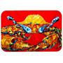 Crab Gordura E Sassy De Mesa De Vidro Corte Grande