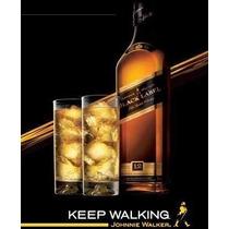 Whisky Black Label 1l - Direto Do Free Shop - 100% Original