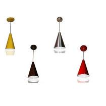 Kit 2 Pendente Cone Alumínio, Várias Cores, Vermelho, Preto