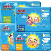 Fralda Monica Kit Com10 Pacotes Ukpe1620