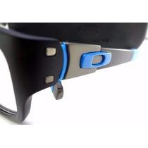 Armação Óculos De Grau Estilo Muffler Preto E Azul Lindo!