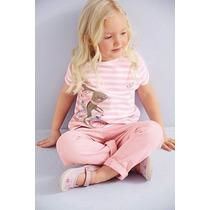 Conjunto Infantil Menina Calça Jeans Camisa Inverno Frio