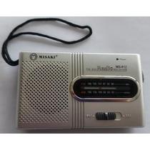 Rádio Portátil Am Fm + 4 Pilhas Sony Radio Pequeno De Bolso