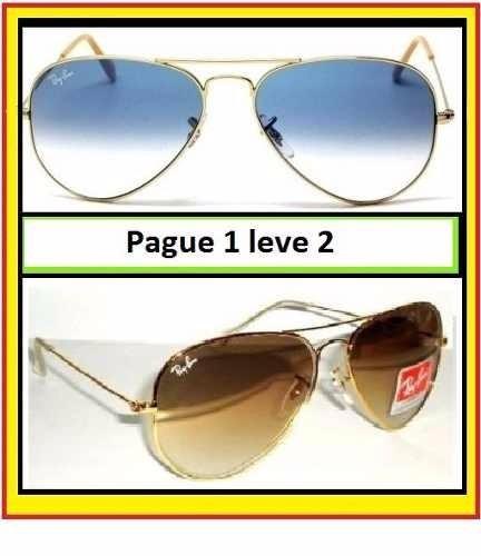 Comprar Óculos Ray Ban Aviador Rayban Paguei 1 Leve 2 Frete Gratis ... c724a08302