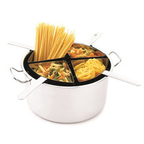 Panela Espagueteira Inox 4 Divisórias Hercules Tipo Spoleto
