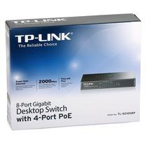 Tp-link Tl-sg1008p Switch Hub 8 Portas 10/100/1000 + Poe