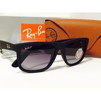 Óculos Sol Ray-ban Rb4165 Justin Preto Polarizado Original!!