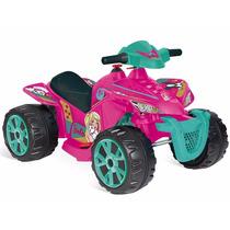 Brinquedo Quadriciclo Elétrico Barbie El 6v 2139 Bandeirante