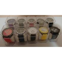 Kit Com 10 Relógios Masculino Atacado+caixinhas Revenda/lote