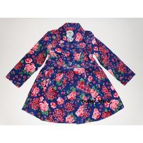 Lindo Sobretudo/casaco/blusa Feminino Infantil Malwee Floral