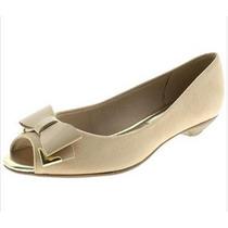 Peep Toe Sapatilhas Beira Rio Sapatos Femininos + Curso Make