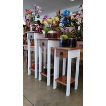 Floreira,mesa Lateral,aparador,madeira Maciça,rustico