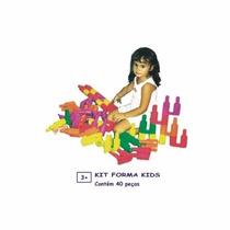 Kit Forma Kids 40 Peças - Peças De Montar
