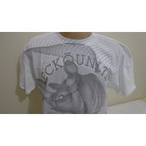 Camiseta Eckounltd Tamanho G Cor Branca E Cinza Original